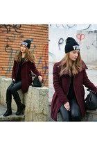 Bershka coat - Zara bag - Zara pants