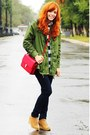 Olive-green-sheinside-coat-red-sheinside-bag