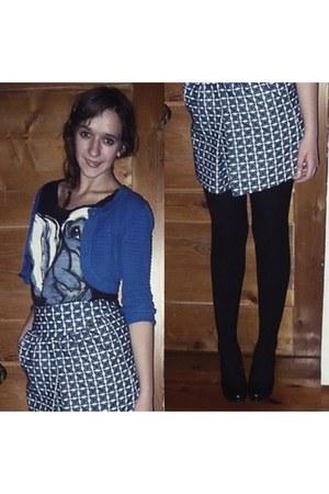 Mango shirt - falke tights - H&M cardigan - Mango skirt