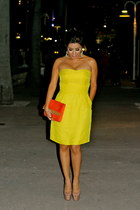 Rebecca Taylor dress - H&M bag - Christian Louboutin heels