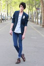Navy-h-m-blazer-navy-cheap-monday-pants-ivory-h-m-t-shirt