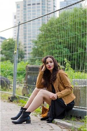 River Island boots - Bik Bok blouse