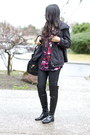 Black-over-the-knee-franco-sarto-boots-black-gold-accent-unknown-bag