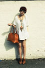Brown-kate-moss-for-topshop-purse-white-h-m-dress-beige-ray-ban-sunglasses