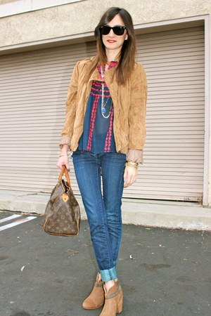 Collective Concepts top - rag & bone boots - blank nyc jeans - Forever 21 jacket