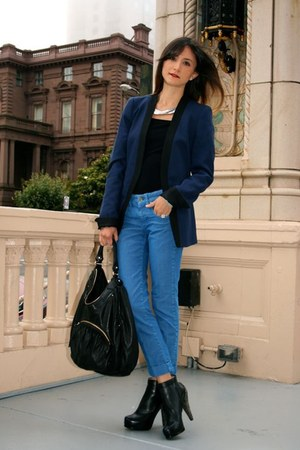 Zara blazer - 31 Phillip Lim boots - Stella McCartney jeans - botkier bag