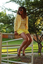 yellow Old Navy shorts - light yellow petite sophisticate blazer