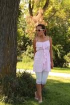 light pink flats vintage shoes - light pink polka dots rue21 dress