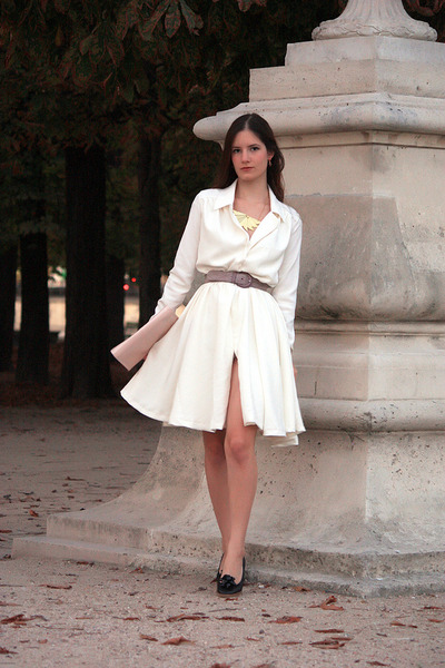 white personal creation dress