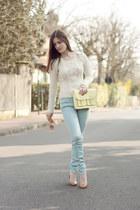 aquamarine Zara jeans