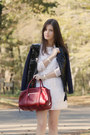 White-zara-dress-black-marni-jacket-brick-red-chloe-bag