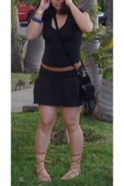 forever 21 top - thrift belt - Velvet-tees skirt - Puerto vallarta shoes - forev