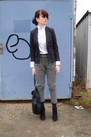 Zara shirt - Calliope blazer - Zara pants - Zara belt - Zara shoes - Zara access