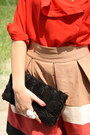 White-zara-shoes-ruby-red-romwe-shirt-black-h-m-bag-camel-zara-skirt-whi