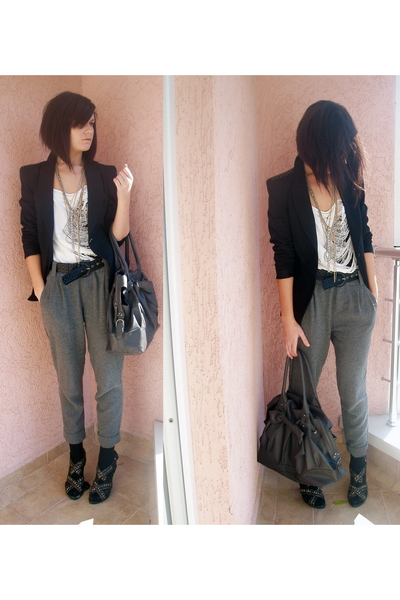 Zara blazer - American Apparel top - Zara pants - Zara shoes - Zara accessories
