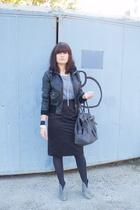 H&M jacket - Zara bag - H&M skirt - aa blouse