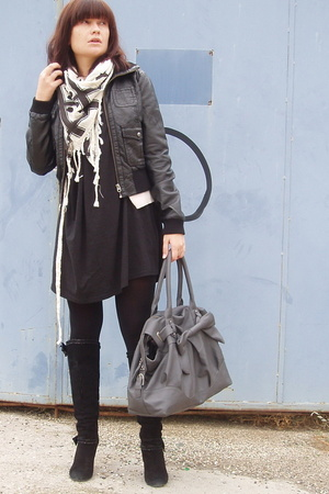H&M jacket - aa dress - Zara scarf - Zara purse