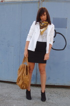 Zara jacket - Zara skirt - Zara purse - blendshe shoes