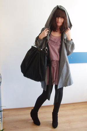 Topshop dress - Zara coat - Zara shoes - Zara purse - Zara top - H&M bracelet