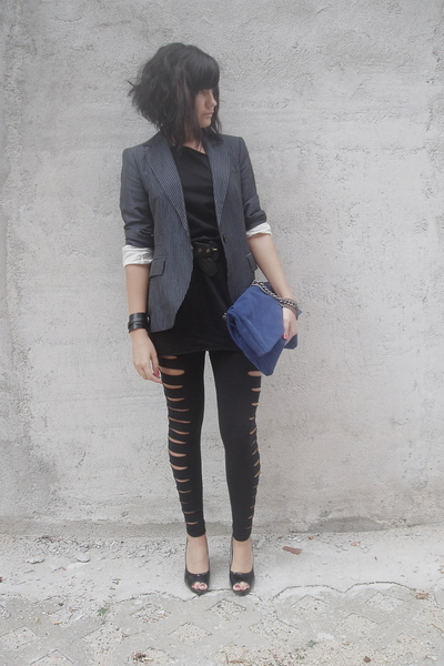 American Apparel dress - Zara blazer - New Yorker leggings - Zara accessories -