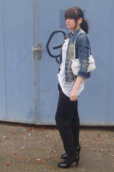 unknown brand jacket - American Apparel top - Topshop pants - Aldo accessories