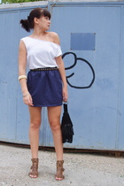 aa blouse - aa skirt - Fly London shoes - Wallis purse