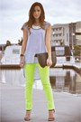 Lime-green-neon-ag-jeans-black-graine-bag-heather-gray-t-shirt
