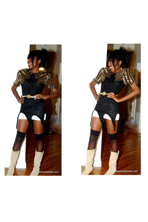 black Funky Lobes dress