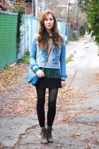 periwinkle Citizen Vintage sweater - blue matt&nat bag
