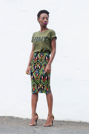 tribal pencil Mr Price skirt - army Mr Price t-shirt