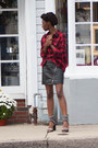 Plaid-forever-21-shirt-lakota-jeffery-campbell-sandals-wilson-leather-skirt