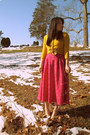 Hot-pink-thrifted-vintage-dress