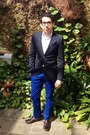 Navy-h-m-blazer-blue-banana-republic-pants