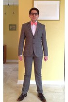 heather gray H&M suit