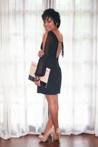 black Forever 21 dress - neutral Forever 21 bag - gold Forever 21 accessories