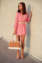 pink wrap dress Electric Frenchie dress