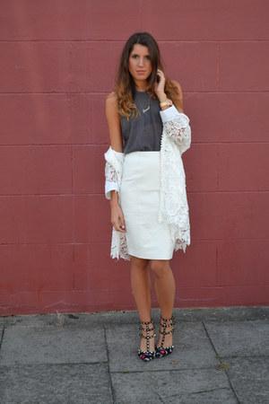 Valentino heels - Quiz jacket - asos skirt