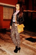 Bershka pants - black random brand shoes - black Bershka jacket - beige vintage