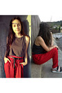 Ruby-red-mango-pants-gray-h-m-top-black-h-m-sandals