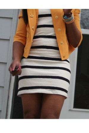 Forevery 21 jacket - Forever 21 dress - Nordstrom bracelet