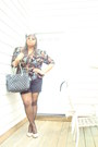 Vintage-blazer-chanel-bag-lane-bryant-shorts