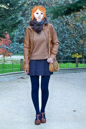 camel Stradivarius jacket - brown Vogue & LV shoes - camel suiteblanco bag