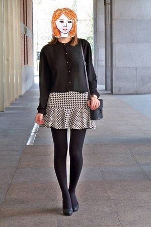 black Lefties shirt - black Paco Martinez bag - white Pimkie skirt