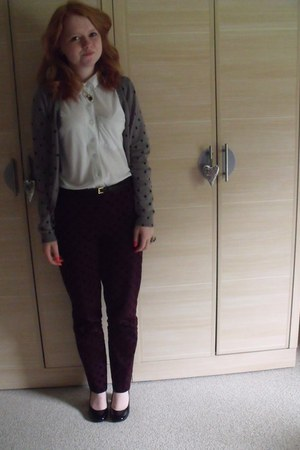 deep purple Primark pants - black Matalan heels