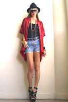 red GirlOnAVine jacket