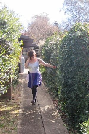 purple Ever Pretty dress - white Dotti shirt - black vintage shoes - purple Ever