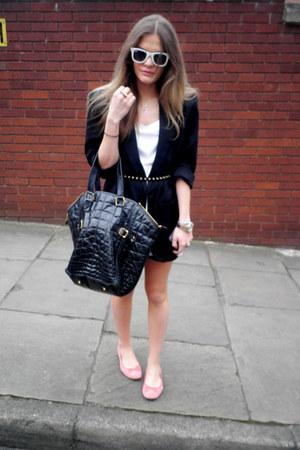 vintage blazer - YSL bag