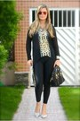 Low-heels-pumps-shoes-black-american-apparel-leggings-purse-prada-bag