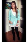 Aquamarine-h-m-cardigan-white-unknown-dress-black-h-m-tights-puce-sfera-ea