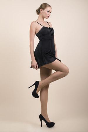 black nylon spandex Yelete stockings